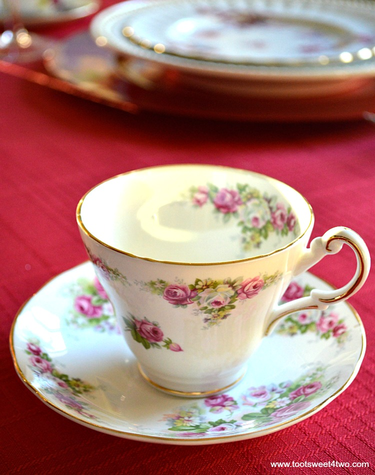 Pink Rose Tea Cup - A Valentine's Day Tea Party Tablescape
