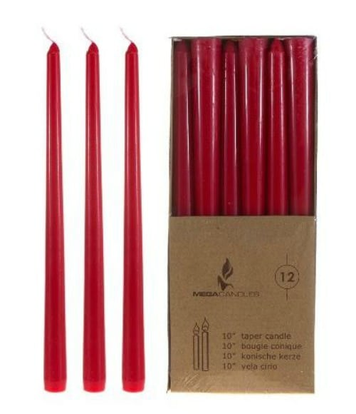 Red Candles on Amazon