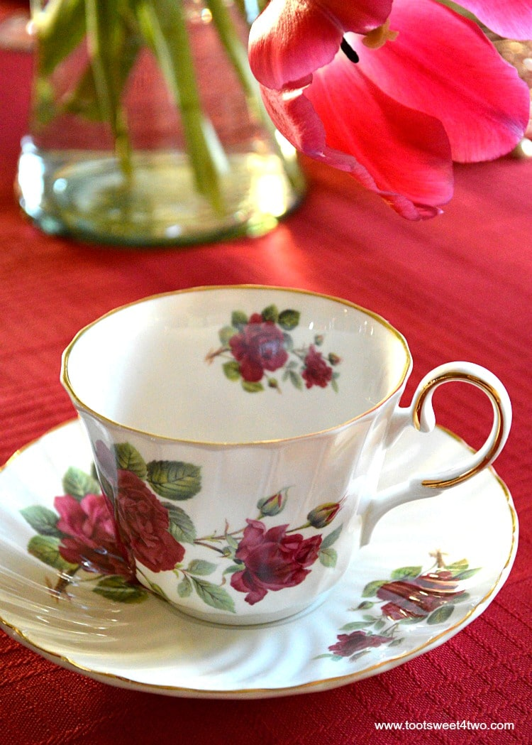 Red Rose Tea Cup - A Valentine's Day Tea Party Tablescape