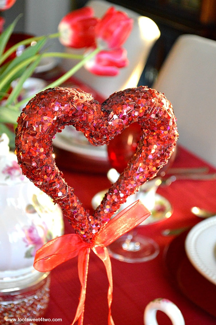 Red Sequined Heart - A Valentine's Day Tea Party Tablescape