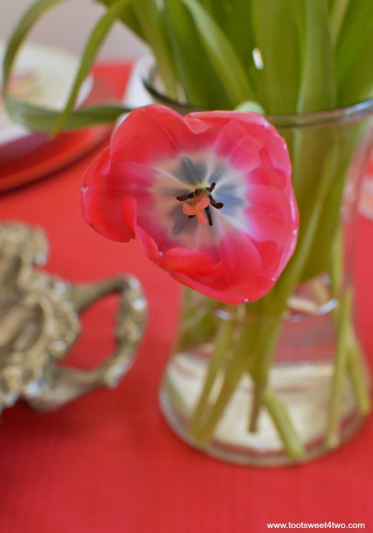 Red Tulips - Pic 4 - A Valentine's Day Tea Party Tablescape