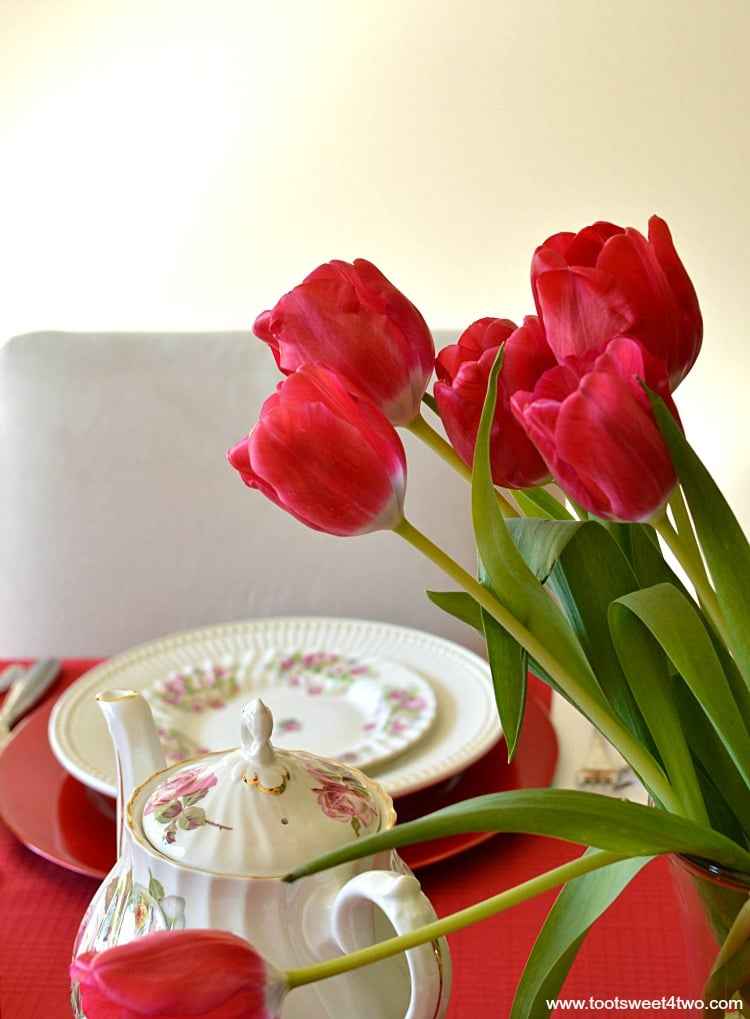 Red Tulips - Pic 5 - A Valentine's Day Tea Party Tablescape