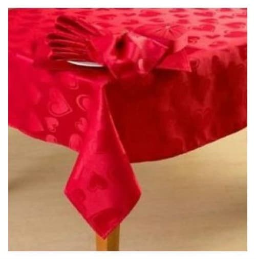 Red Valentine Tablecloth on Amazon