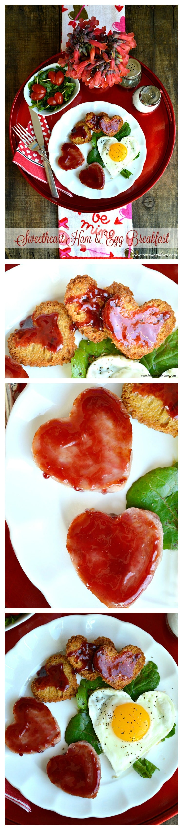 Sweetheart Ham and Egg Breakfast collage