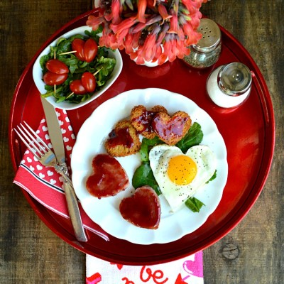 Sweetheart Ham and Egg Breakfast