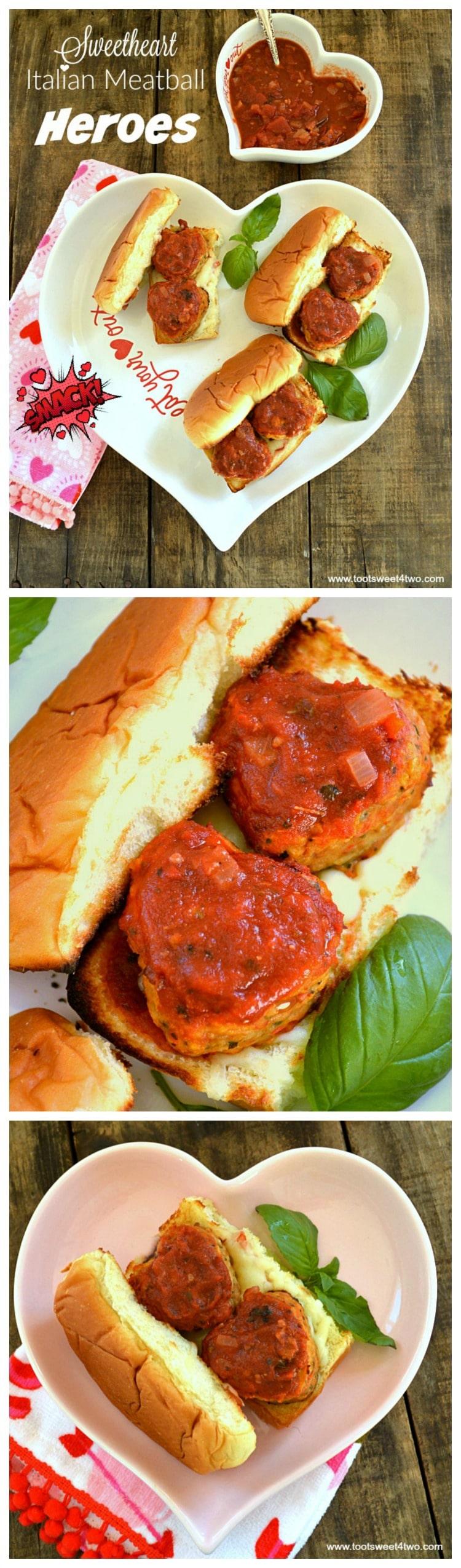 Sweetheart Italian Meatball Heroes collage