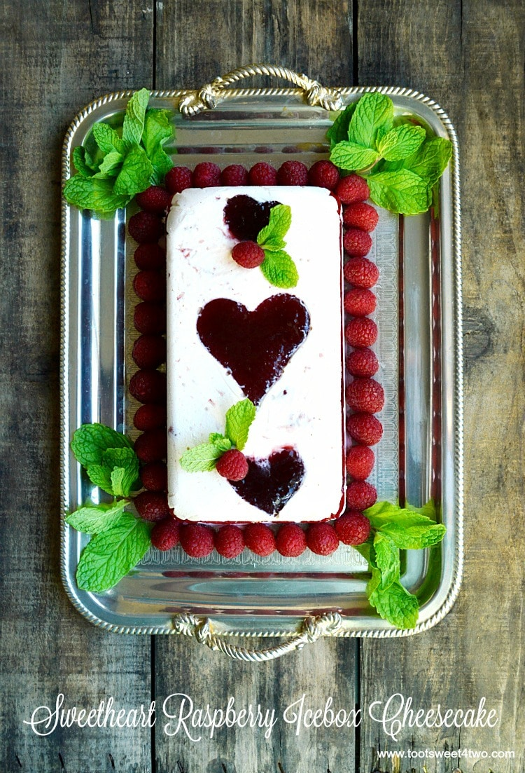 Sweetheart Raspberry Icebox Cheesecake - Pic 1