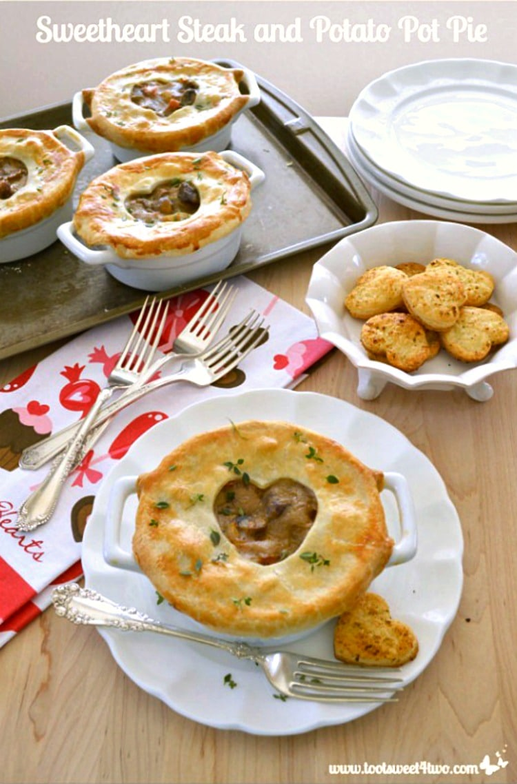 Sweetheart Steak and Potato Pot Pie with Thyme