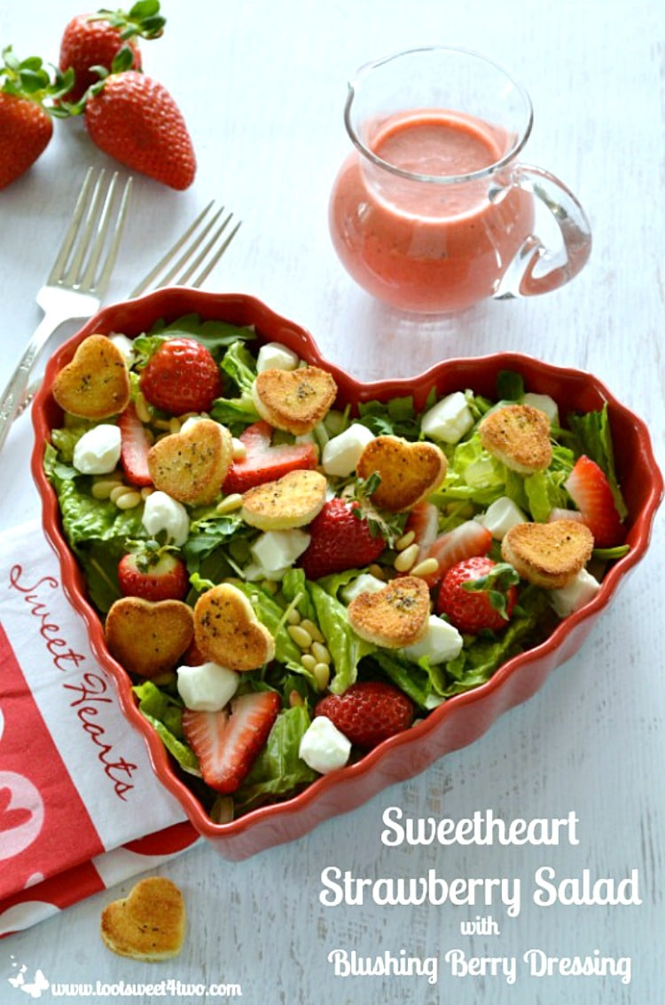 Sweetheart Strawberry Salad with Blushing Berry Dressing Pic 1a