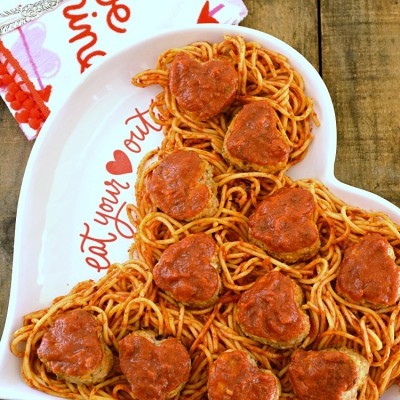 Sweetheart Turkey Meatballs with Spaghetti