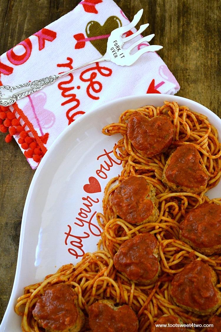 Sweetheart Turkey Meatballs with Spaghetti - Pic 3