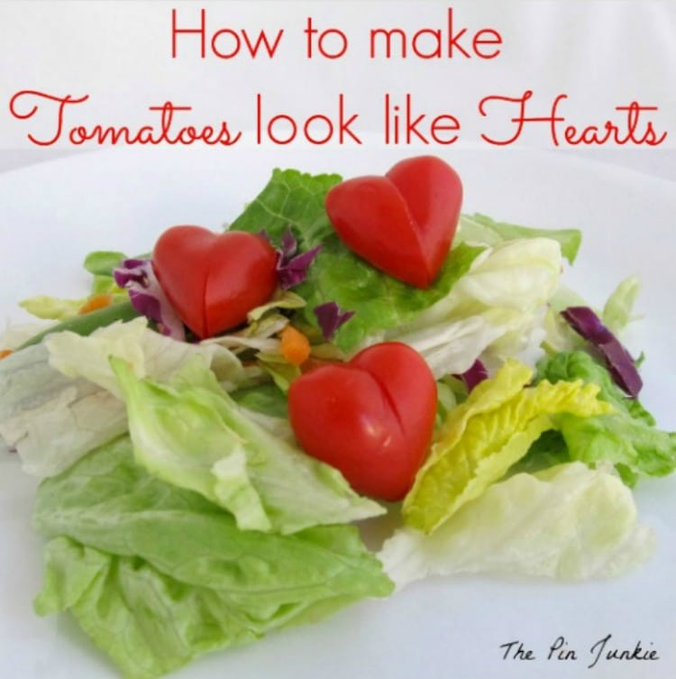The Pin Junkie's How to Make Tomatoes Look Like Hearts