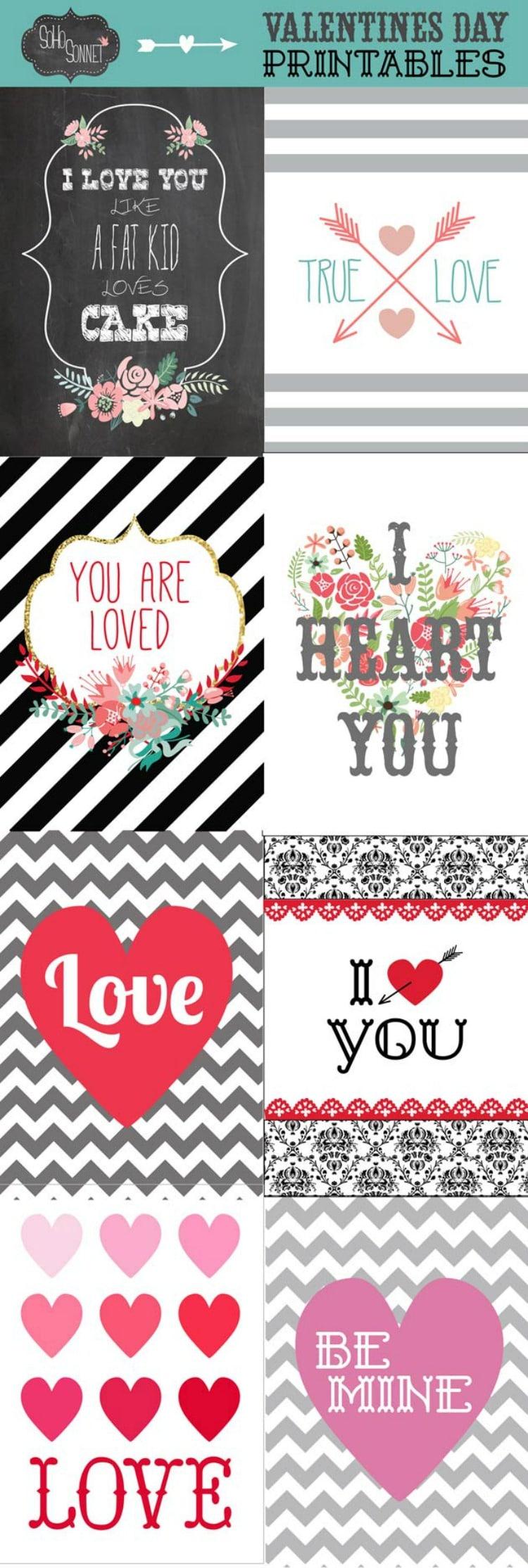 Valentine Printables from SOHO Sonnet
