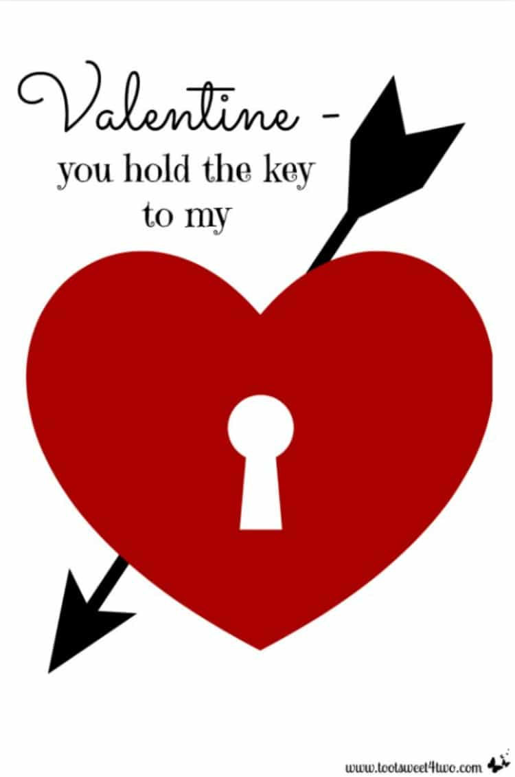 Valentine You Hold the Key printable