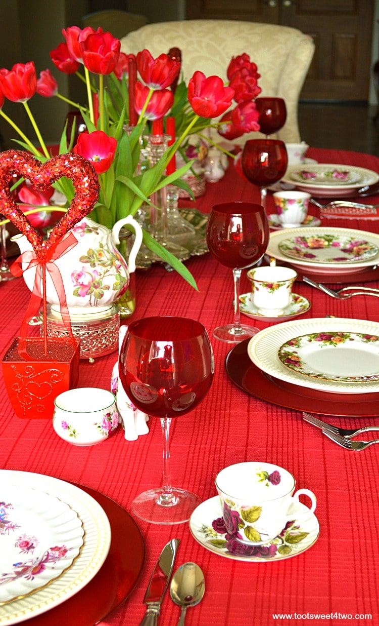 Valentine's Day Tea Party Table