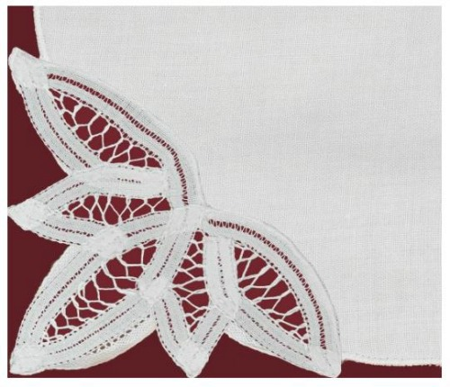 White Lace Napkins on Amazon