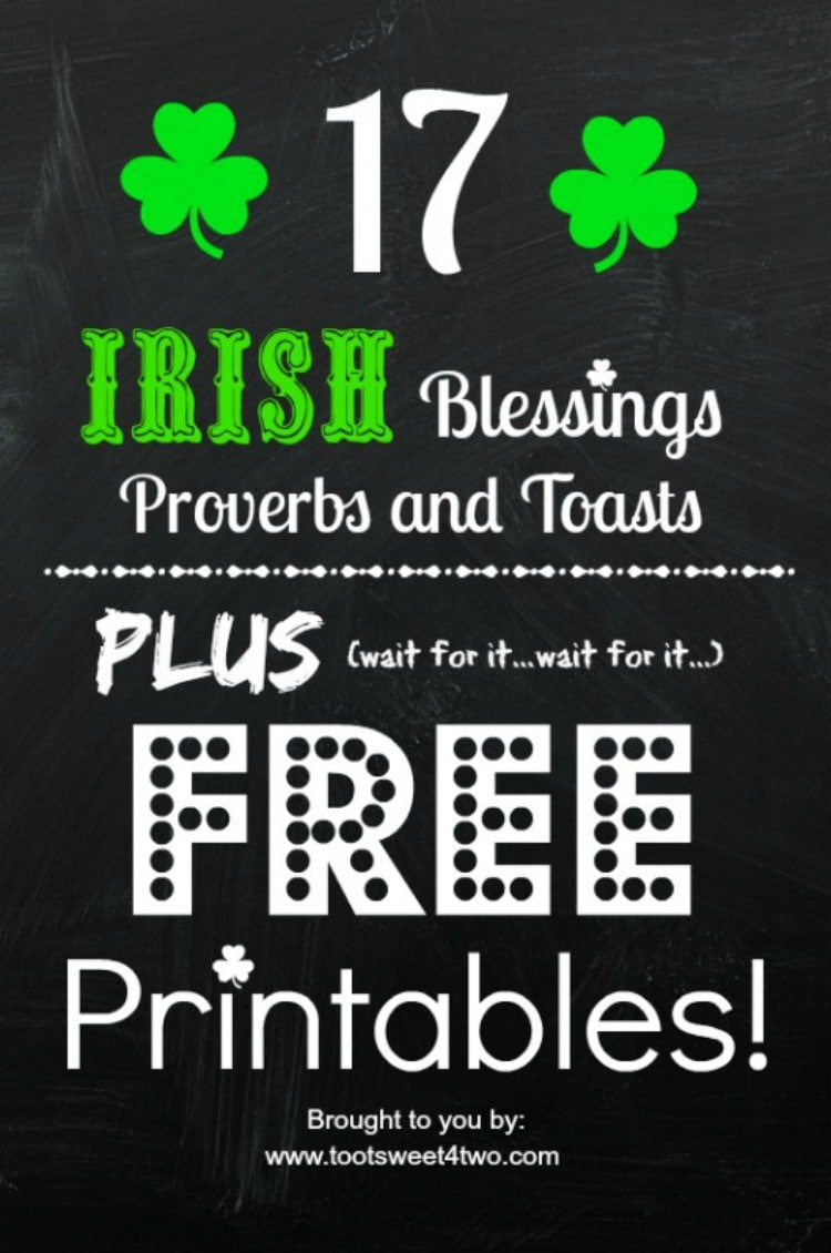 17 Irish Blessings, Proverbs and Toasts 750x1130