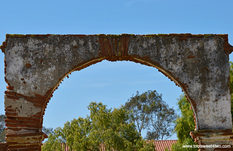 Carriage Arch ruins at Mission San Luis Rey