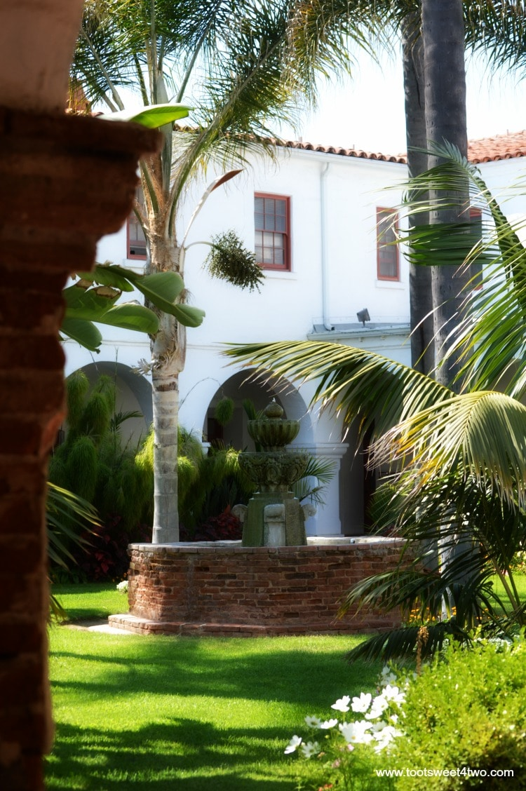 Fountain in Museum courtyard at Mission San Luis Rey