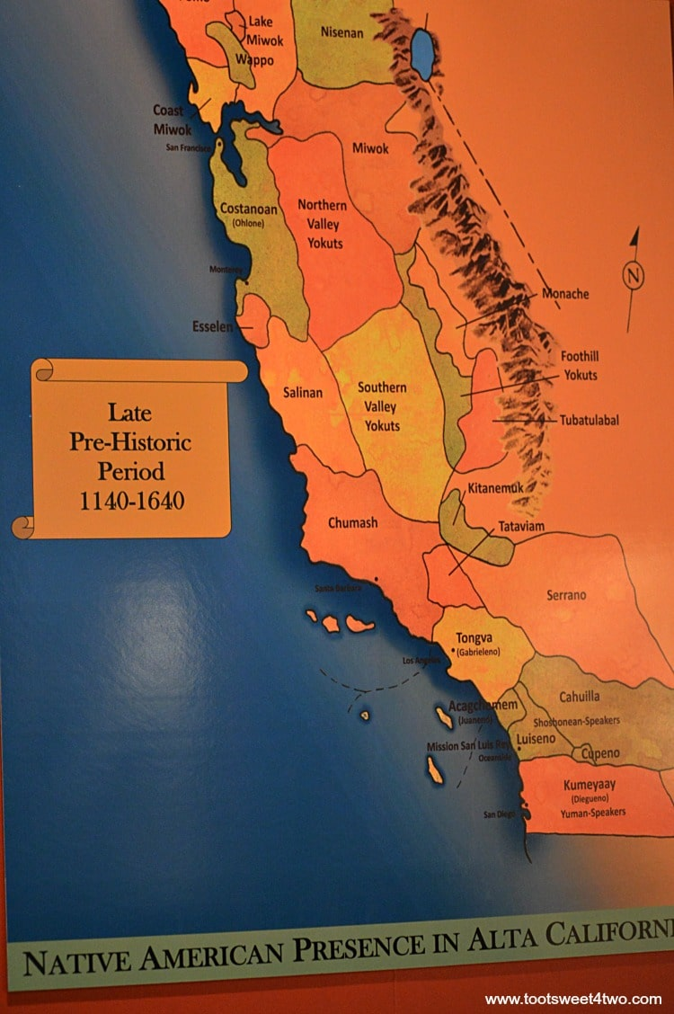 Map of Native American Tribes from 1140 to 1640 in Alta California