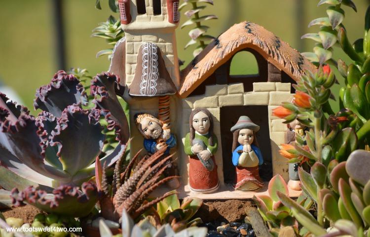 Miniature Mission garden at Mission San Luis Rey