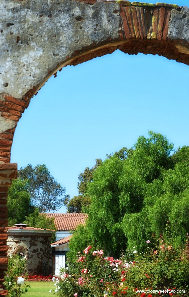 Mission San Luis Rey Welcome Center Carriage Arch ruins and gardens - Pic 2