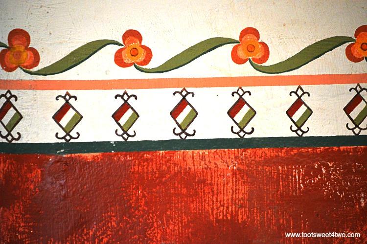 Painted walls inside Mission San Luis Rey Museum