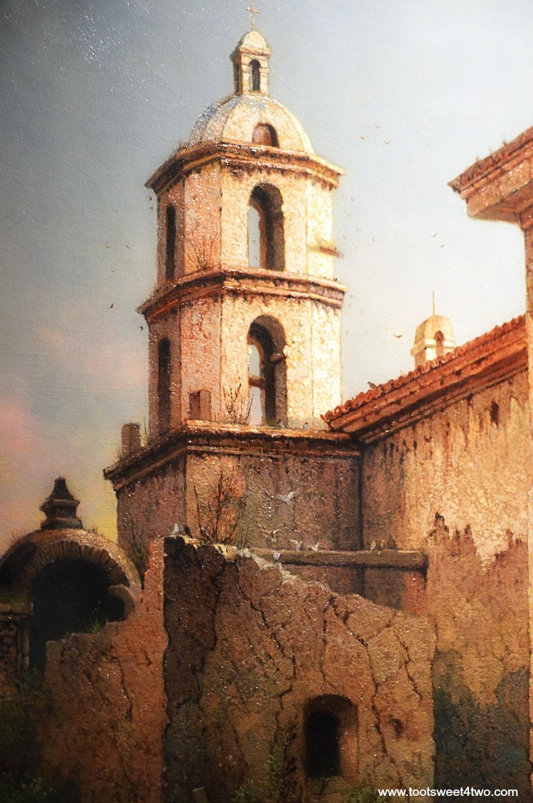 Painting of Mission San Luis Rey Museum