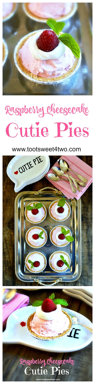 Raspberry Cheescake Cutie Pies collage