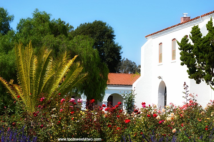 View of private garden at Mission San Luis Rey