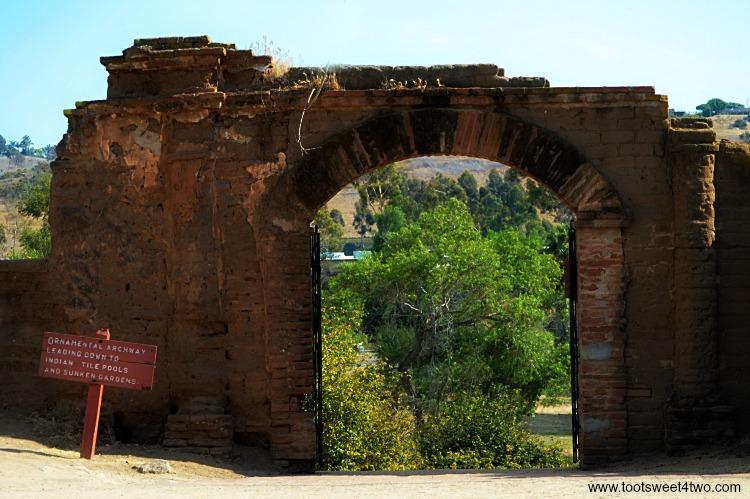 Entrance to Mission San Luis Rey Lavanderia