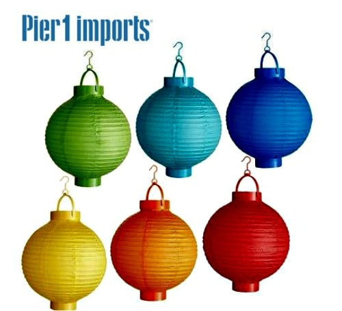 Battery-operated Paper Lanterns from Pier One