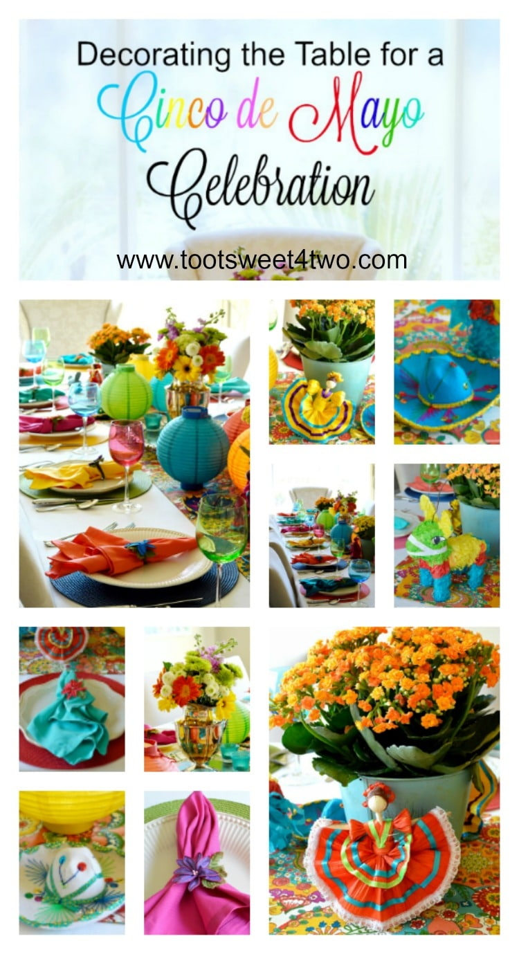 Decorating the Table for a Cinco de Mayo Celebration collage