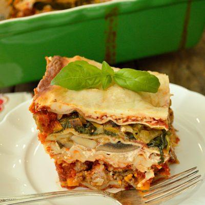 Mile High Veggie Stacked Lasagna