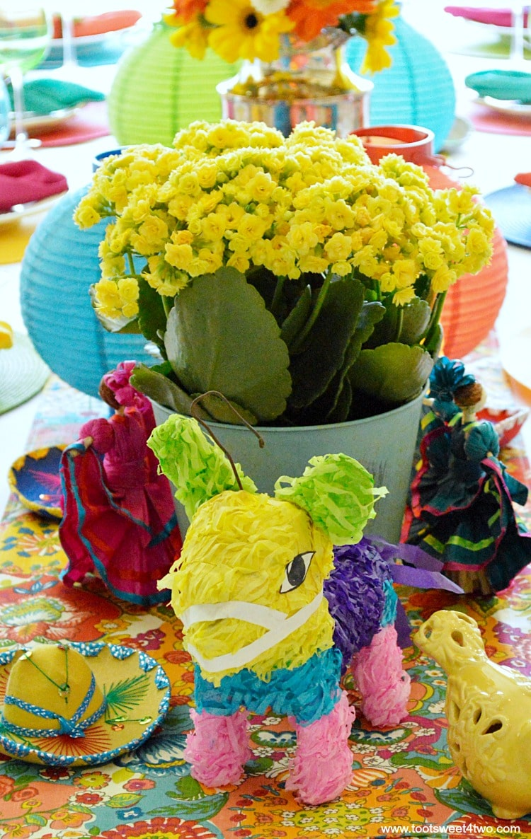 Mini Donkey Pinata for Decorating the Table for a Cinco de Mayo Celebration