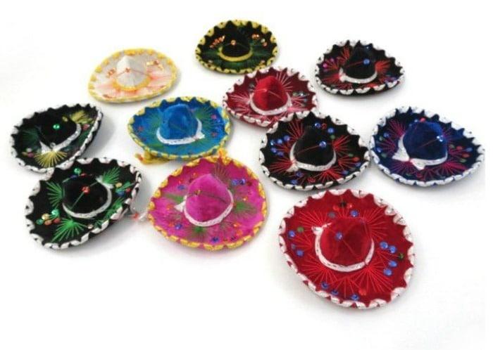 Miniature Mexican Mariachi Sombreros available on Amazon