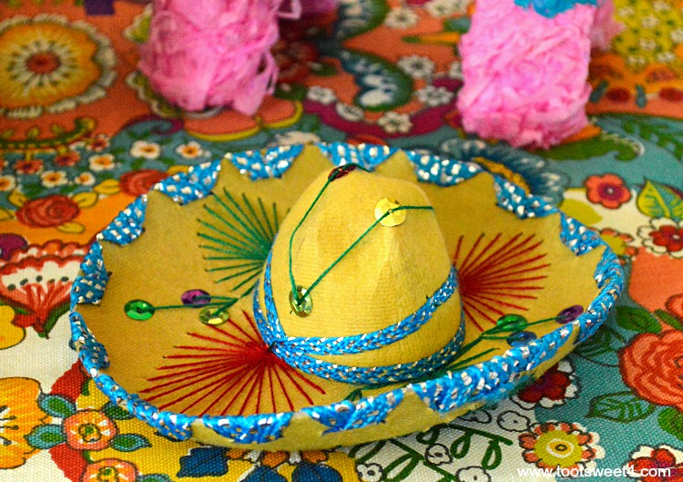 Miniature Yellow Mariachi Sombrero for Decorating the Table for a Cinco de Mayo Celebration & Miniature Yellow Mariachi Sombrero for Decorating the Table for a ...