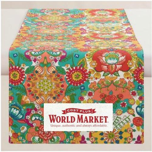 World Market Floral Bettina Tablerunner