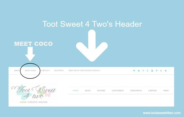 Toot Sweet 4 Two's Header with Meet Coco