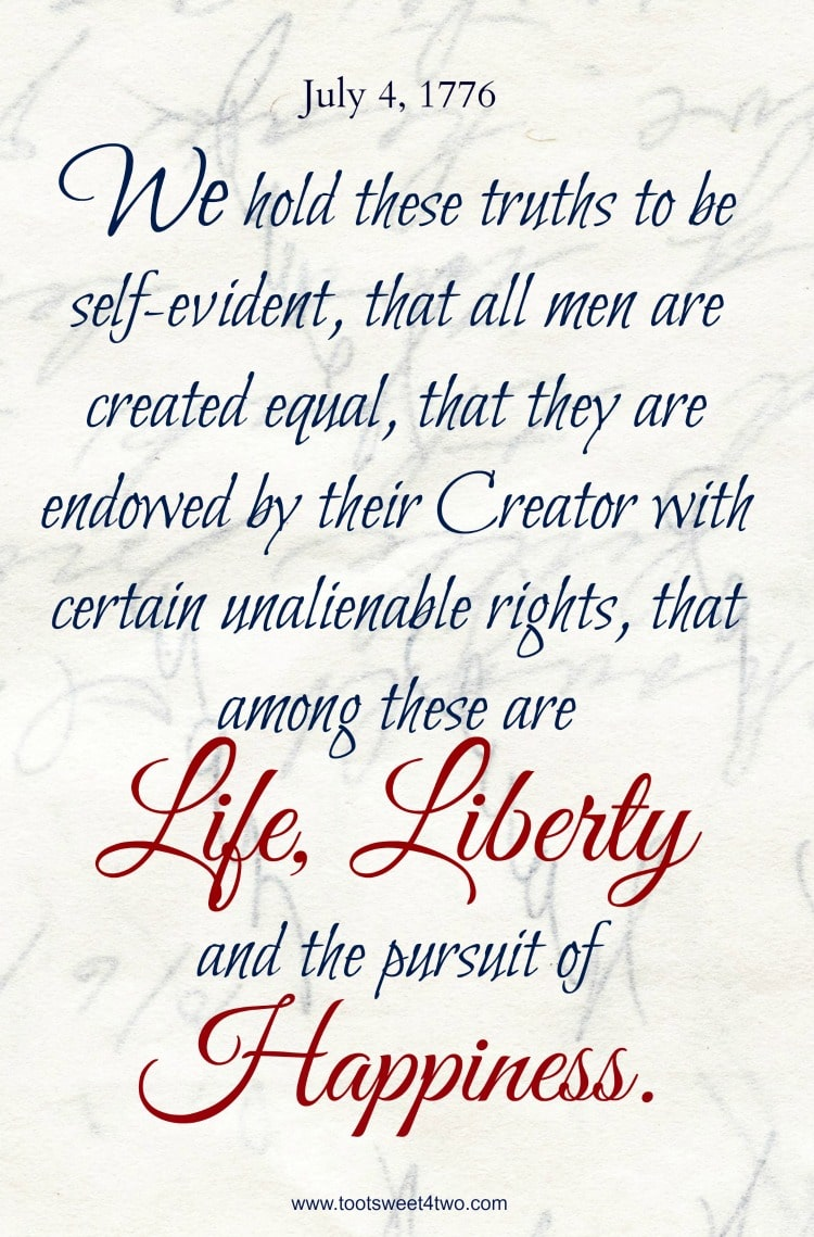 declaration of independence preamble printable