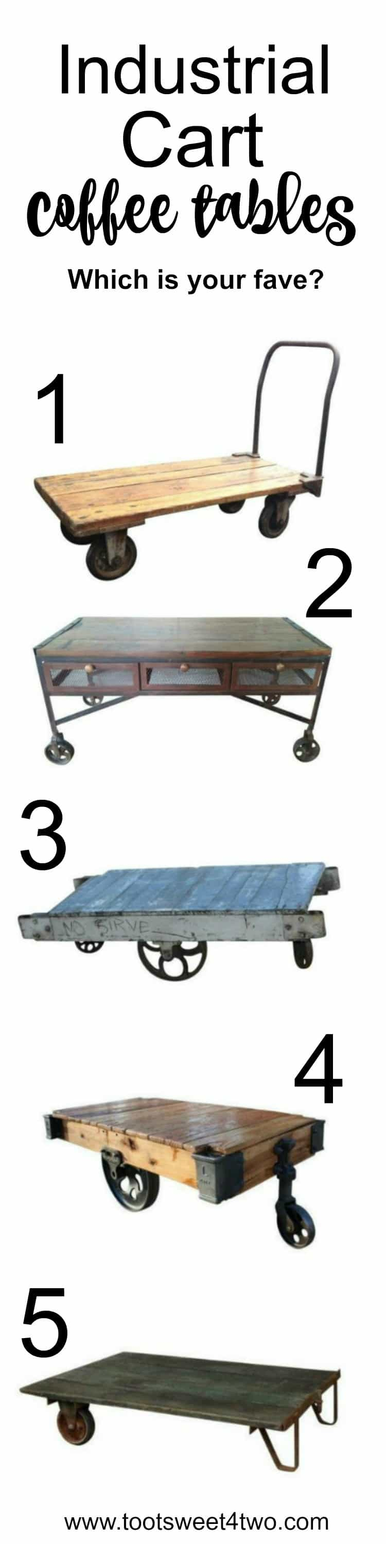Industrial Cart Coffee Table Le Grenier Industrial Cart Coffee Table 100 West Elm Industrial