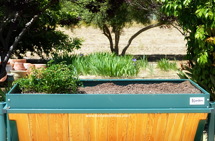 L Garden Elevated Rolling Trough Planter