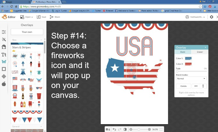 Step 14 - Choose Fireworks Icon