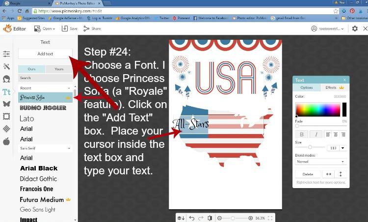 Step 24 - Choose Font