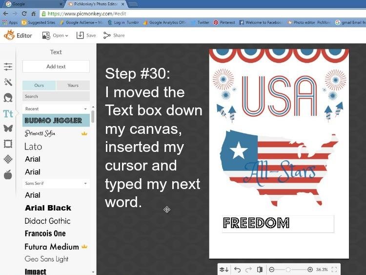 Step 30 - Move Font