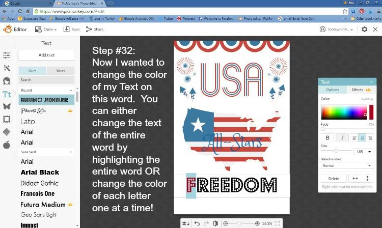 Step 32 - Change Font Color