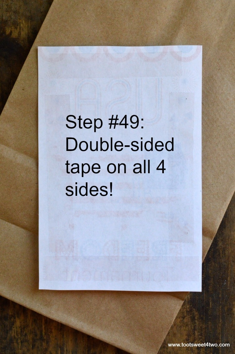 Step 49 - Double-sided tape on all 4 sides