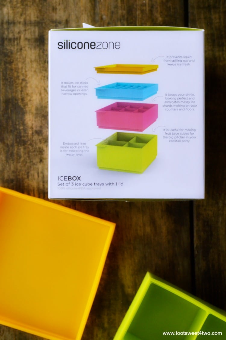 Instructions on how to use the Stackable Ice Tray Set from Uncommon Goods