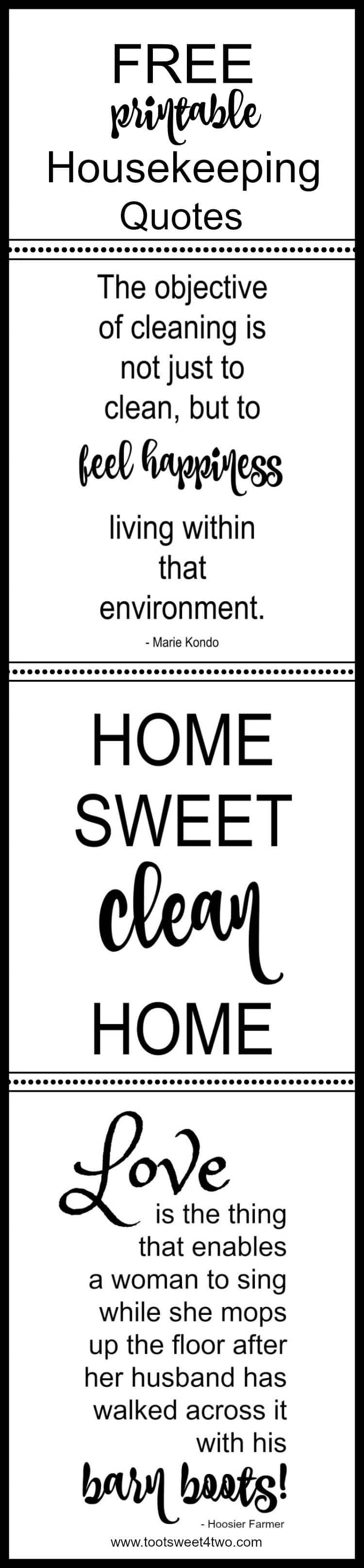 Housekeeping Quotes Why A Clean Home Influences A Healthy Mind And Body  Toot Sweet 4 Two