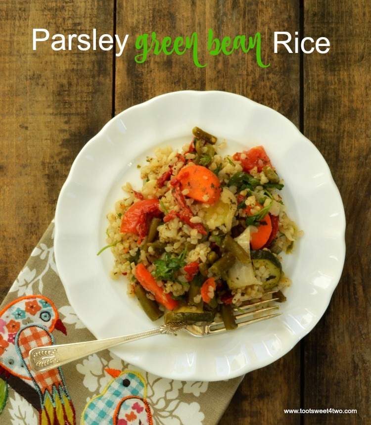 Parsley Green Bean Rice from IONutrition - organic meal delivery service